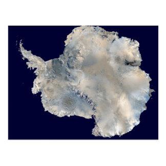 Imagen por satélite del viaje de la foto-ciencia tarjeta postal