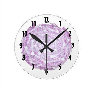 imagen púrpura de la verdura de la col blanca reloj