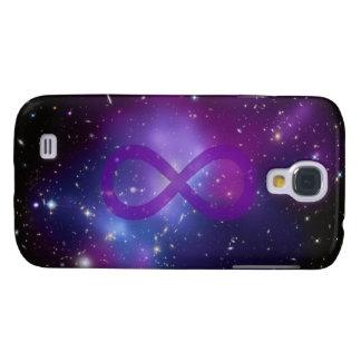 Imagen púrpura del espacio funda para galaxy s4