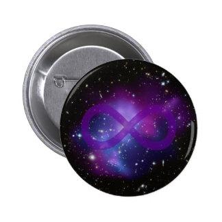 Imagen púrpura del espacio pin redondo 5 cm