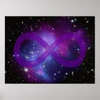 Imagen púrpura del espacio poster