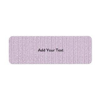Imagen púrpura en colores pastel del modelo de la  etiquetas de remite