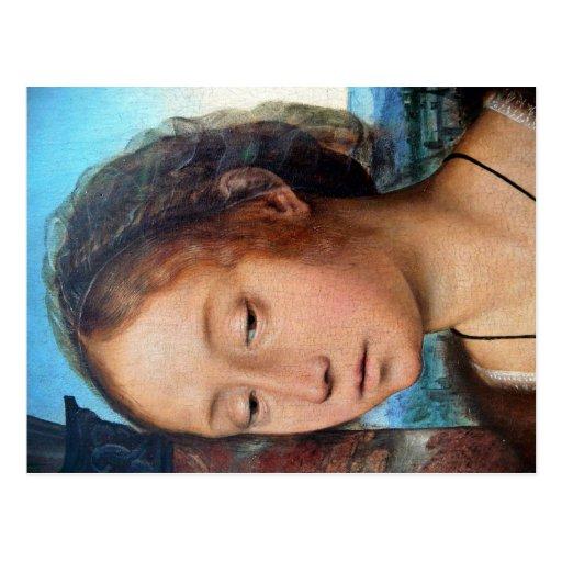 Imagen religiosa de Marie-Madeleine. Detalle, por  Tarjeta Postal