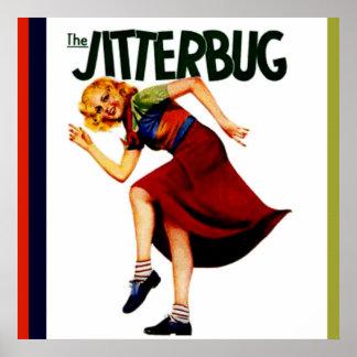 imagen retra del poster de la impresión de la danz