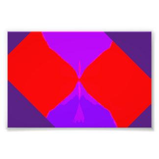 Imagen retra impresión púrpura y roja de 1 de fotografías