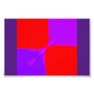 Imagen retra impresión púrpura y roja de 1 fotografías
