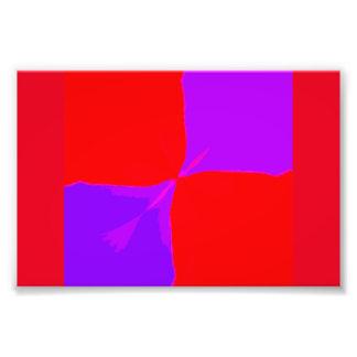 Imagen retra impresiones púrpuras y rojas de 1 fotografía