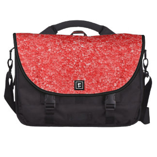 Imagen roja coralina de la grava bolsas de portátil