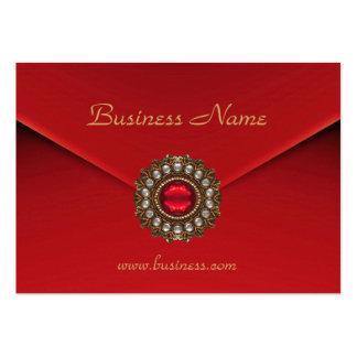 Imagen roja de la mirada del negocio de la tarjeta tarjeta personal