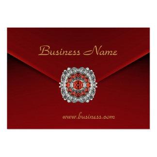 Imagen roja de la mirada del terciopelo del negoci tarjeta de visita