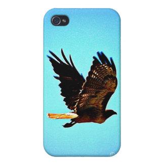 Imagen roja del halcón de la cola iPhone 4/4S funda
