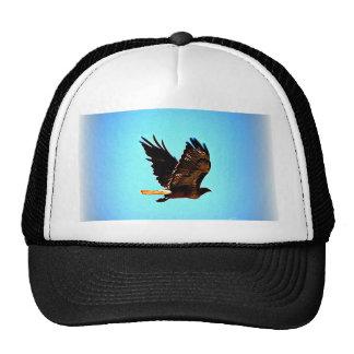 Imagen roja del halcón de la cola gorras de camionero