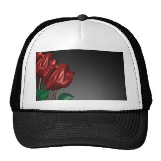 imagen romántica del arte de los rosas 3D Gorros Bordados