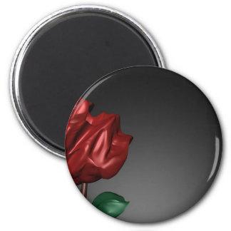 imagen romántica del arte de los rosas 3D Imán Redondo 5 Cm