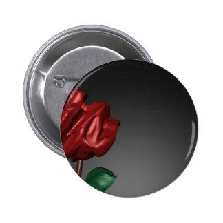 imagen romántica del arte de los rosas 3D Pin Redondo 5 Cm