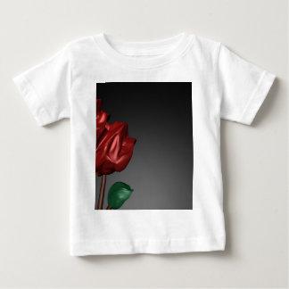 imagen romántica del arte de los rosas 3D Playera De Bebé