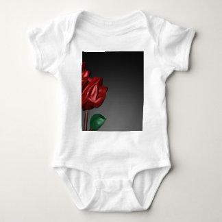 imagen romántica del arte de los rosas 3D Playeras