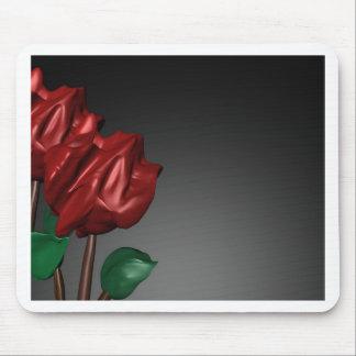 imagen romántica del arte de los rosas 3D Tapete De Ratones