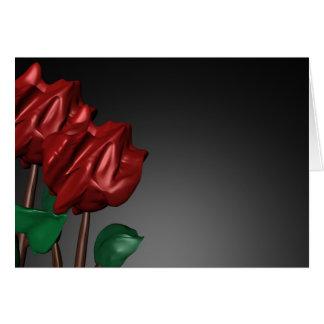 imagen romántica del arte de los rosas 3D Tarjeta De Felicitación