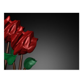 imagen romántica del arte de los rosas 3D Tarjeta Postal
