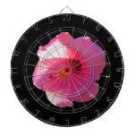 imagen rosada de la flor del hibisco tablero de dardos
