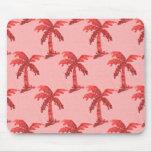 Imagen rosada de la palmera del Grunge de la lente