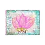 Imagen rosada de la yoga de la flor de Lotus Lienzo Envuelto Para Galerías