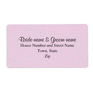 Imagen rosada del cuero, casando diseño etiqueta de envío