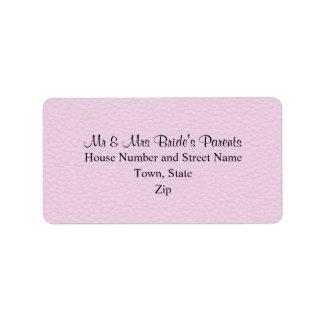 Imagen rosada del cuero, casando diseño etiquetas de dirección