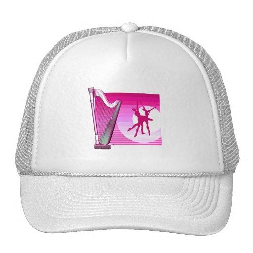 Imagen rosada del gráfico de la versión de la arpa gorras