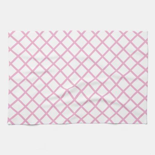 Imagen rosada femenina 9 del modelo del enrejado toallas de cocina