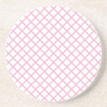 Imagen rosada femenina 9 del modelo del enrejado posavaso para bebida
