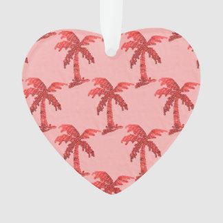 Imagen rosada sucia de la palmera de la lentejuela