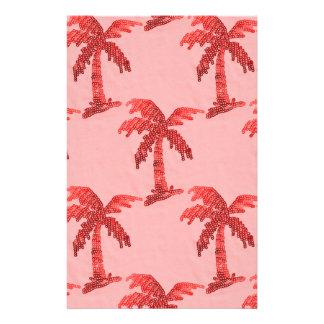 Imagen rosada sucia de la palmera de la lentejuela papelería de diseño