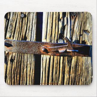 Imagen rústica antigua de la foto del cierre del m tapetes de ratón