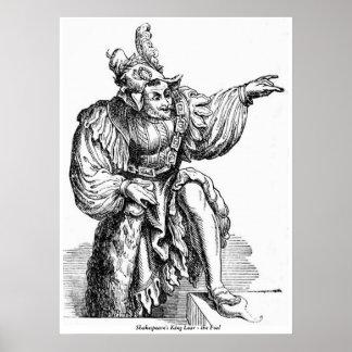 Imagen Shakespeare - rey Lear del vintage - el Póster
