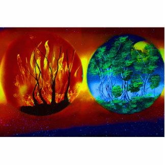 imagen spraypainting del fuego y de la naturaleza