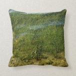 Imagen subacuática de la hierba de la charca almohada