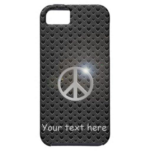 imagen/texto del cambio de la paz del carbono del funda para iPhone SE/5/5s