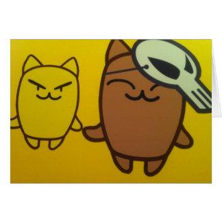 Imagen tonta del gato tarjeta de felicitación