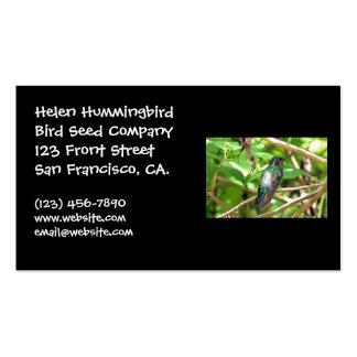 Imagen tropical del colibrí plantillas de tarjeta de negocio