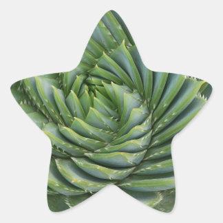 Imagen verde de la cena pegatina en forma de estrella