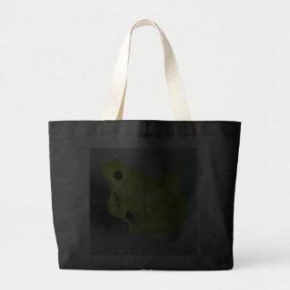Imagen verde de la rana arbórea bolsa