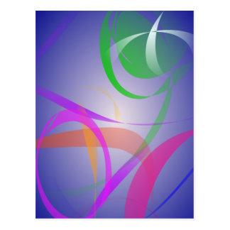 Imagen verde del extracto de la flor tarjetas postales