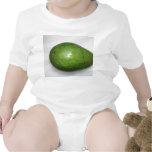 imagen verde grande de la fruta del avacado traje de bebé