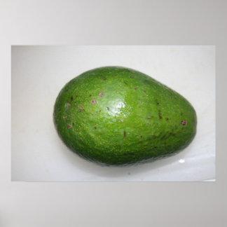 imagen verde grande de la fruta del avacado póster