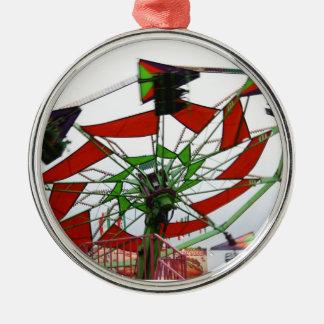 Imagen verde y roja del paseo del planeador justo  ornamentos para reyes magos