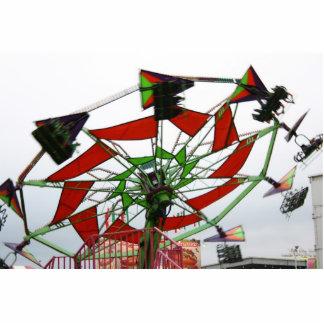 Imagen verde y roja del paseo del planeador justo  escultura fotográfica