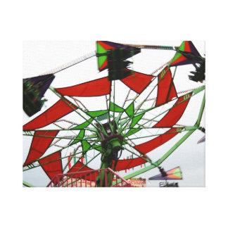 Imagen verde y roja del paseo del planeador justo  impresion en lona