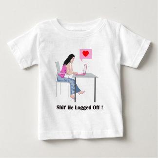 Imagen y cita románticas playera de bebé
